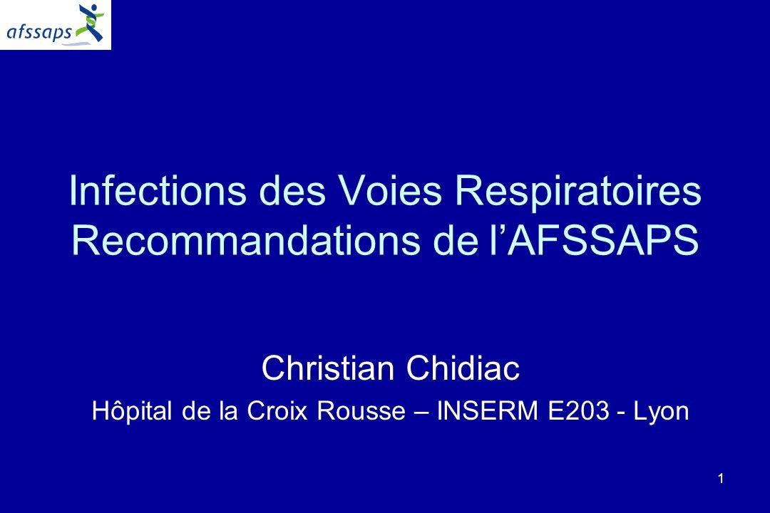 Infections des Voies Respiratoires Recommandations de l'AFSSAPS
