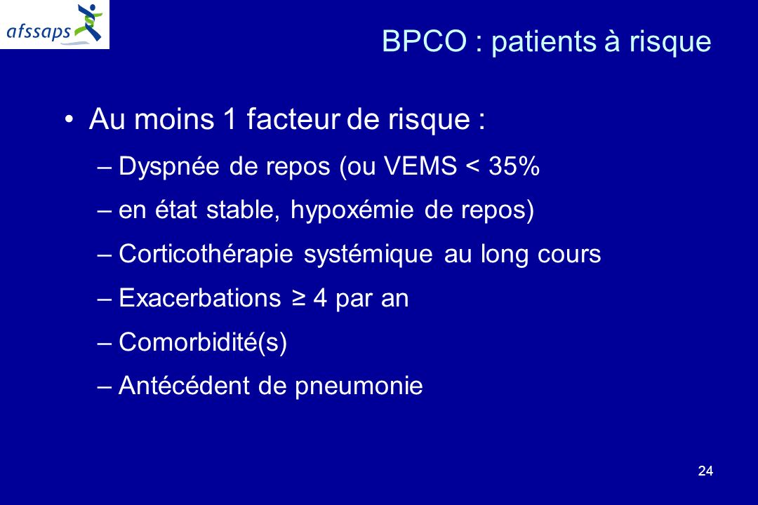 BPCO : patients à risque