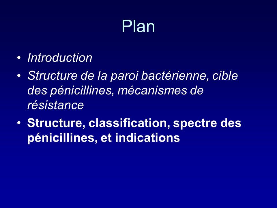 PlanIntroduction. Structure de la paroi bactérienne, cible des pénicillines, mécanismes de résistance.