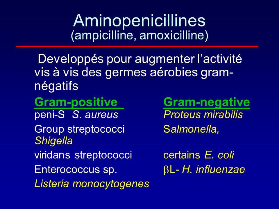 Aminopenicillines (ampicilline, amoxicilline)