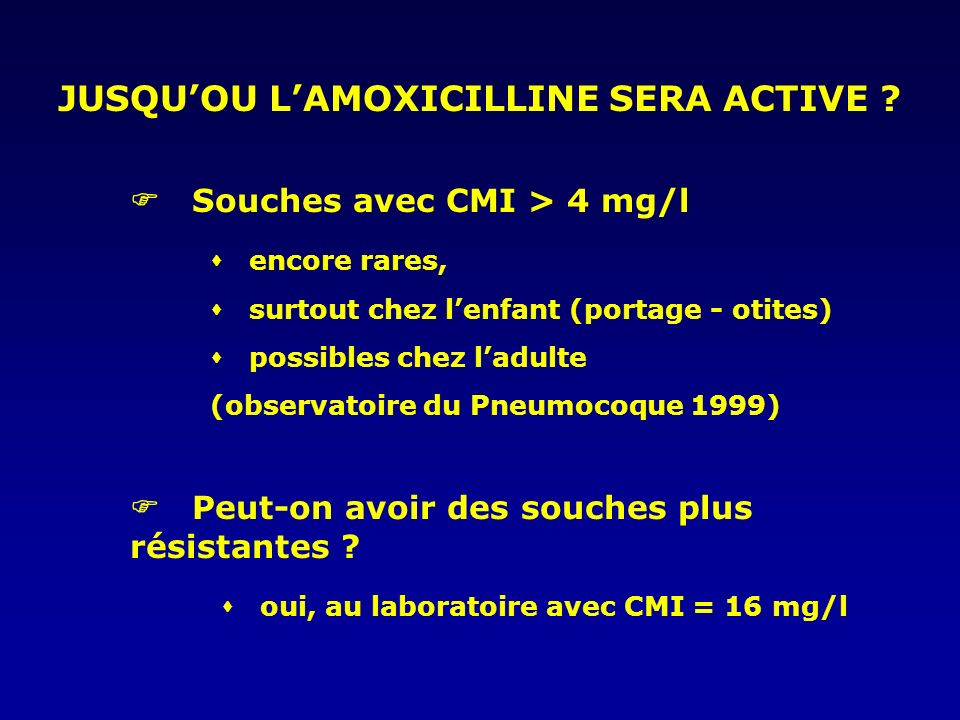 JUSQU'OU L'AMOXICILLINE SERA ACTIVE