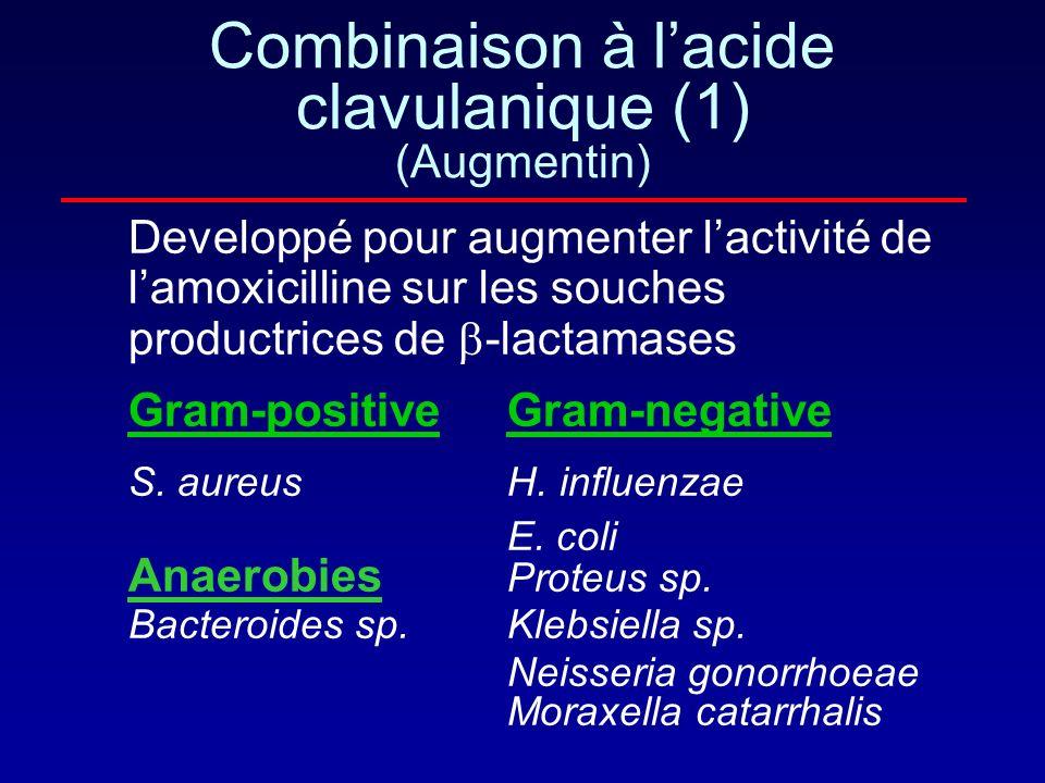 Combinaison à l'acide clavulanique (1) (Augmentin)