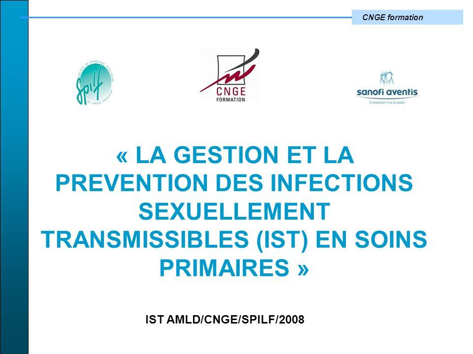 « LA GESTION ET LA PREVENTION DES INFECTIONS SEXUELLEMENT TRANSMISSIBLES (IST) EN SOINS PRIMAIRES »