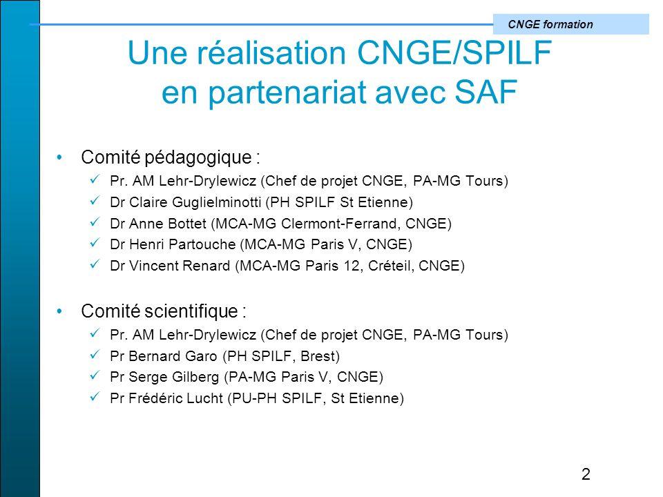 Une réalisation CNGE/SPILF en partenariat avec SAF