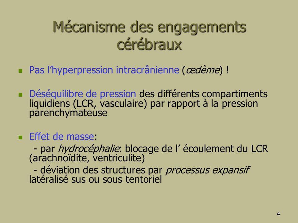 Mécanisme des engagements cérébraux