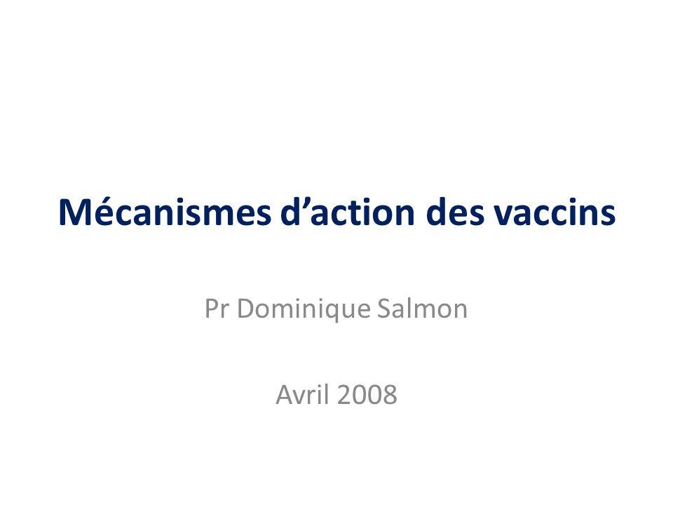 Mécanismes d'action des vaccins