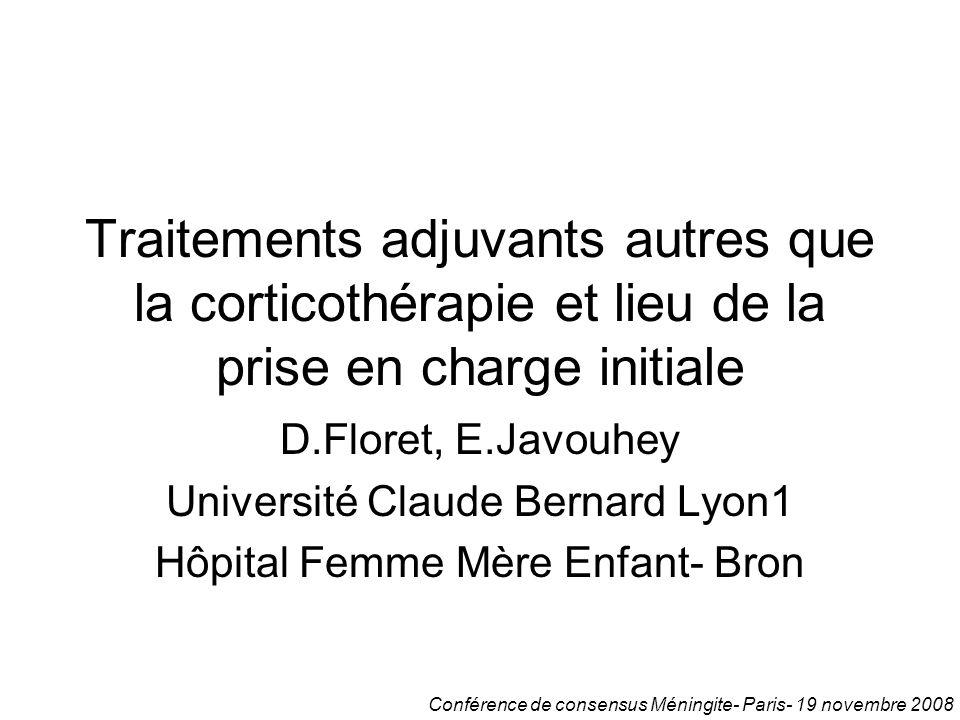 14 - Daniel FloretTraitements adjuvants autres que la corticothérapie et lieu de la prise en charge initiale.