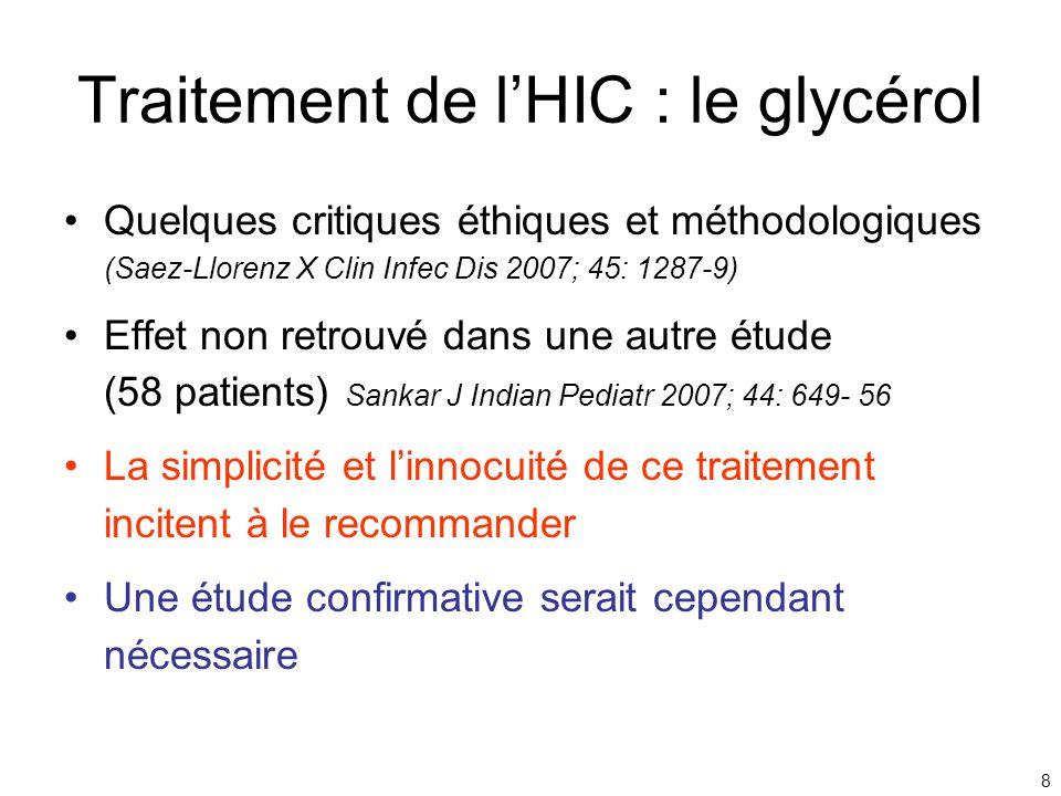 Traitement de l'HIC : le glycérol
