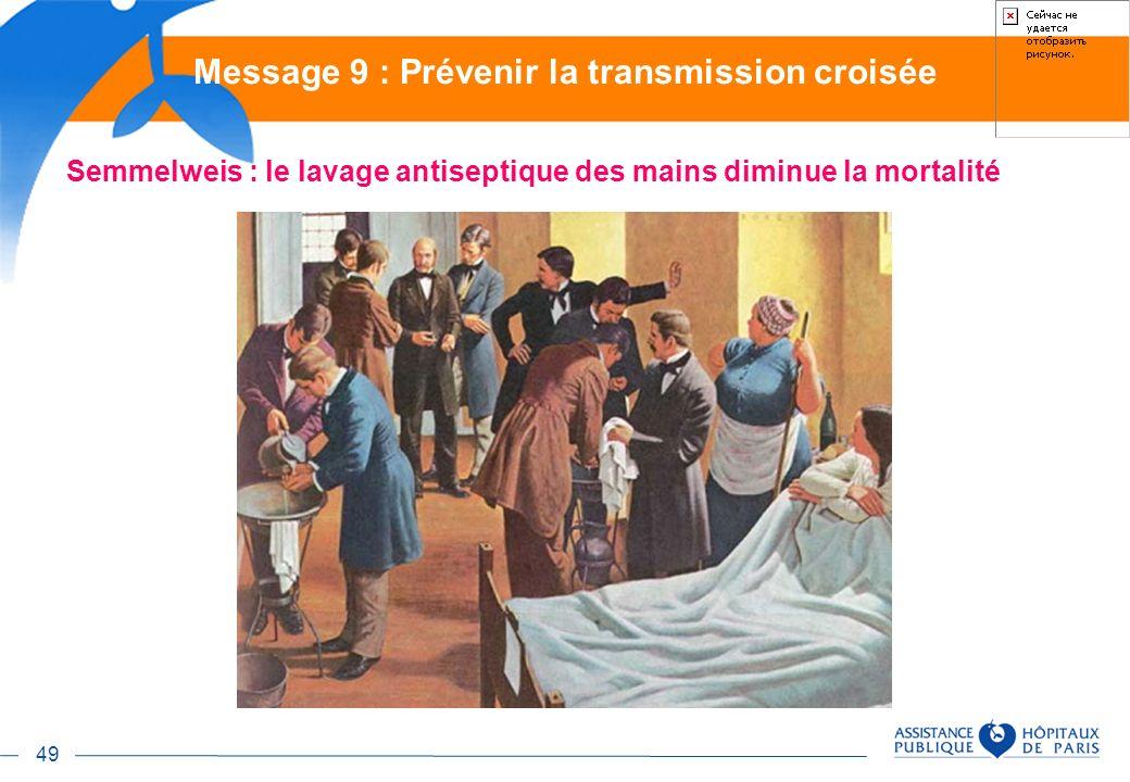 Message 9 : Prévenir la transmission croisée