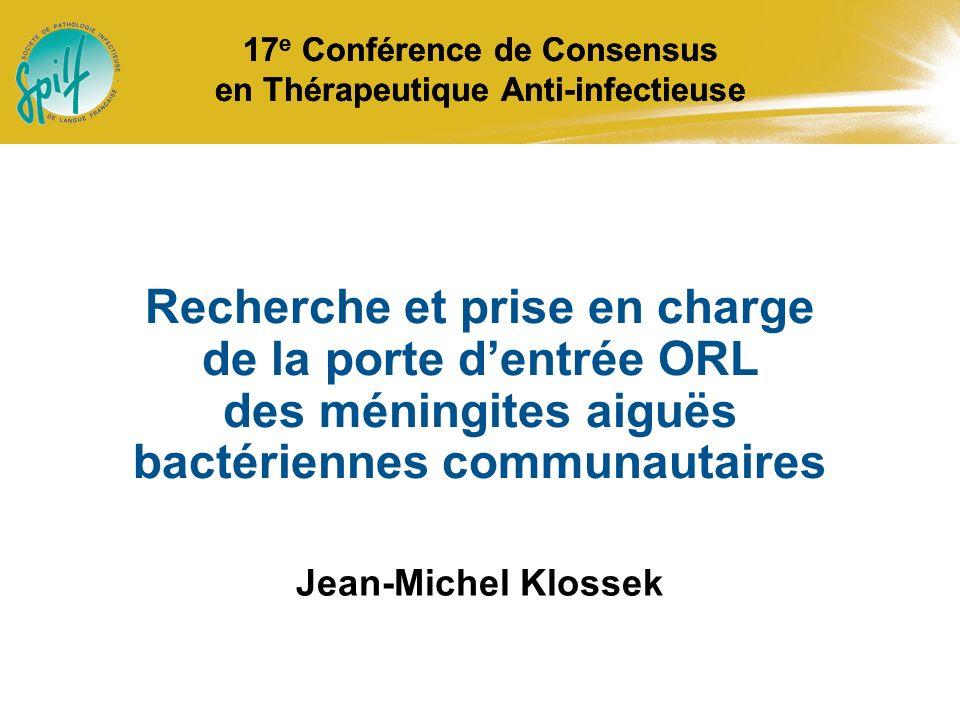 17e Conférence de Consensus en Thérapeutique Anti-infectieuse