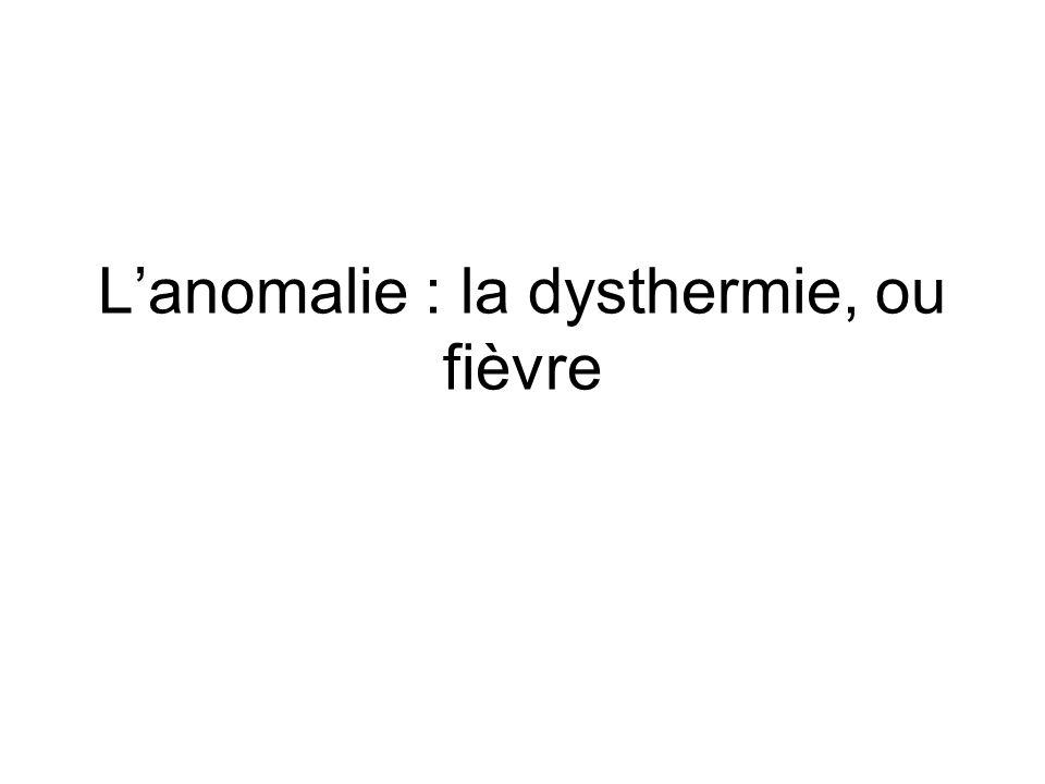 L'anomalie : la dysthermie, ou fièvre