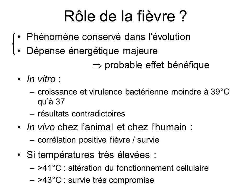 Rôle de la fièvre Phénomène conservé dans l'évolution