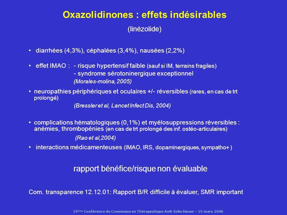 Oxazolidinones : effets indésirables