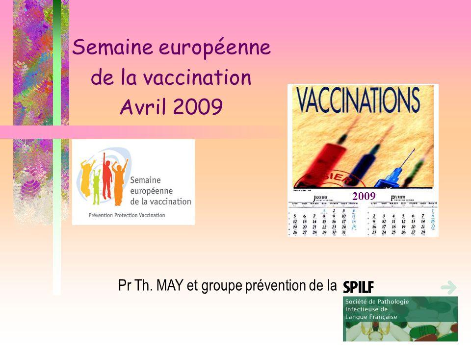 Semaine européenne de la vaccination Avril 2009