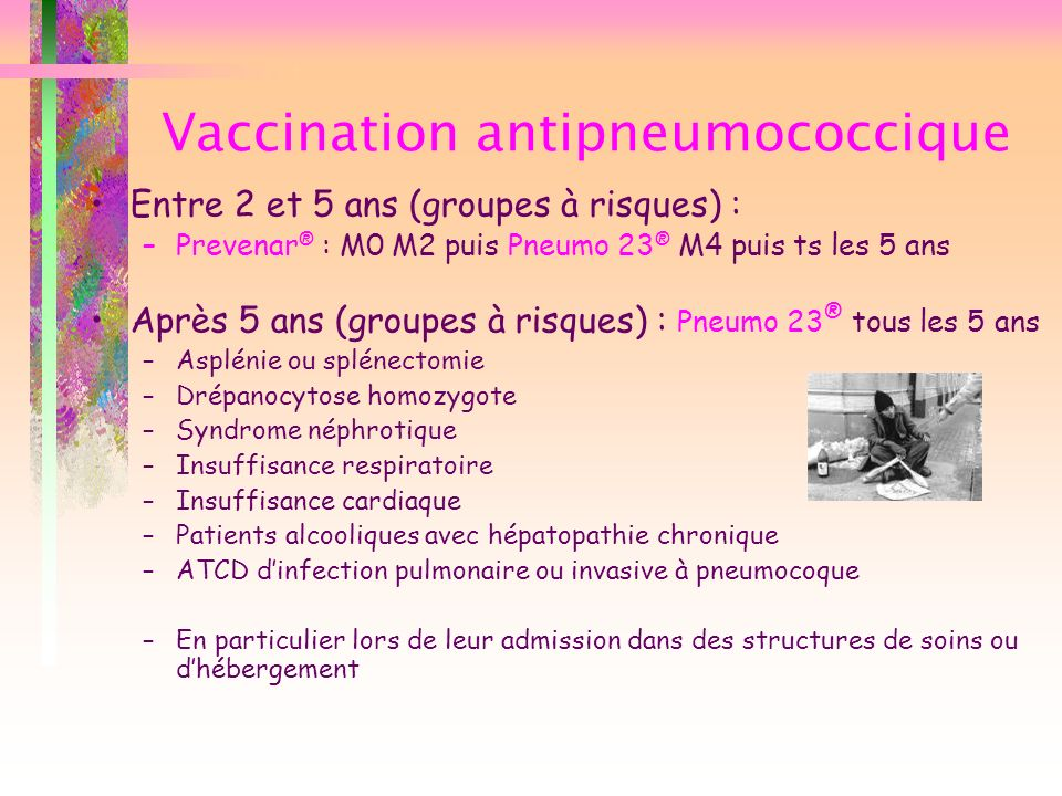 Vaccination antipneumococcique