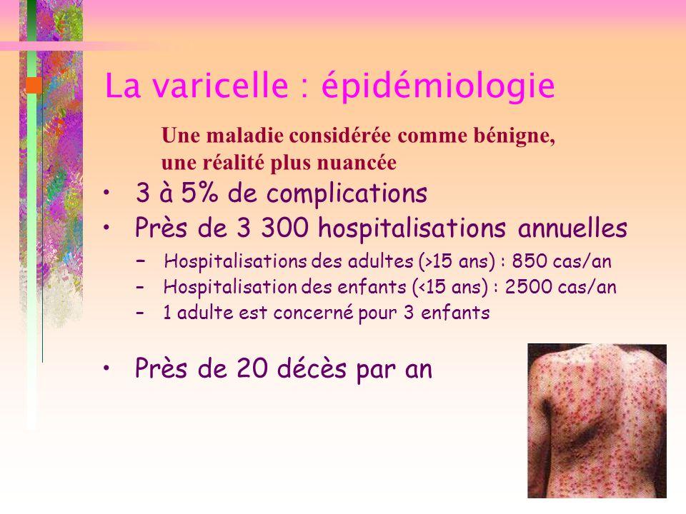 La varicelle : épidémiologie