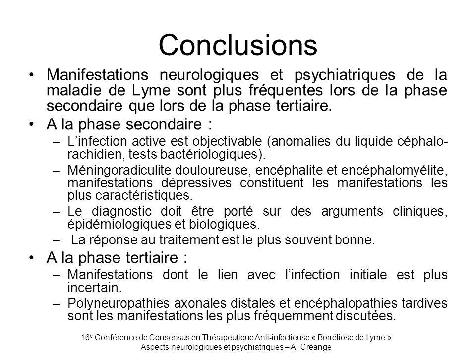 Aspects neurologiques et psychiatriques – A. Créange