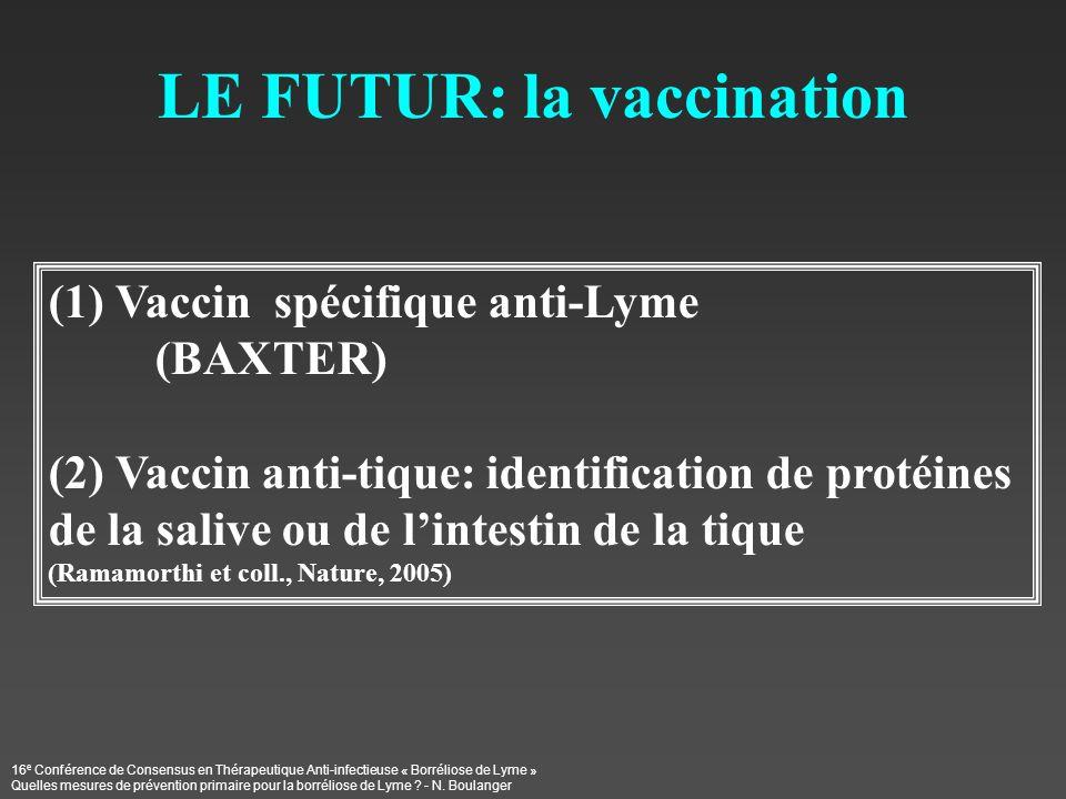 LE FUTUR: la vaccination