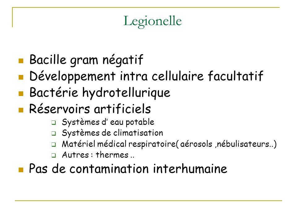 Legionelle Bacille gram négatif