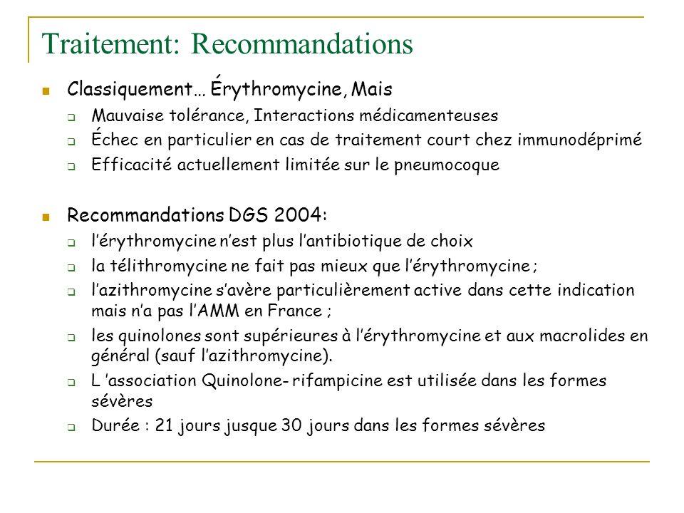 Traitement: Recommandations