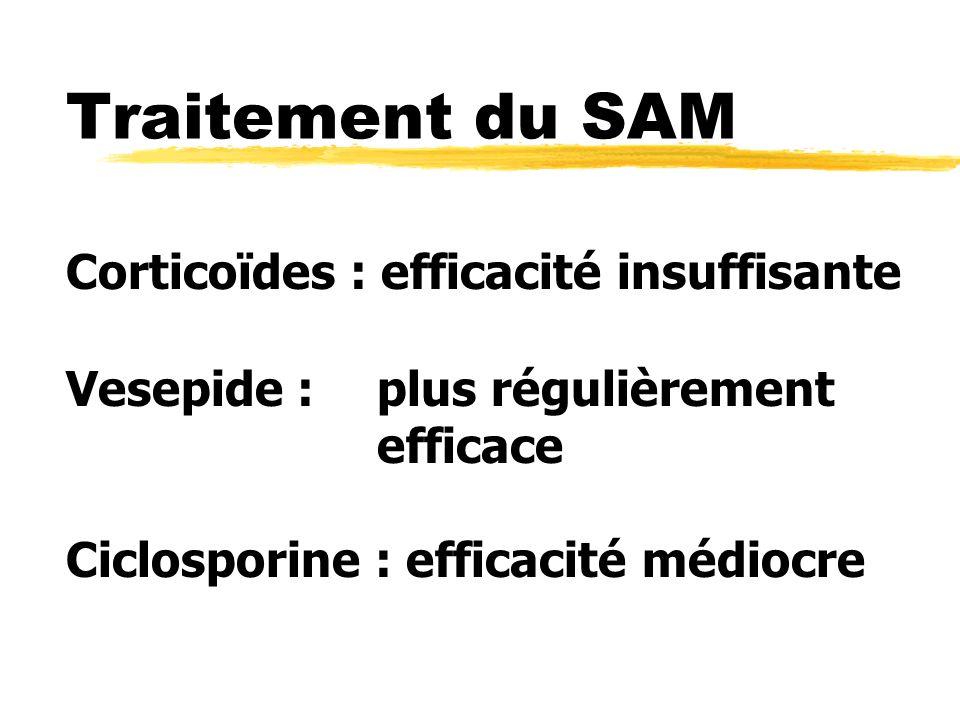 Traitement du SAM Corticoïdes : efficacité insuffisante