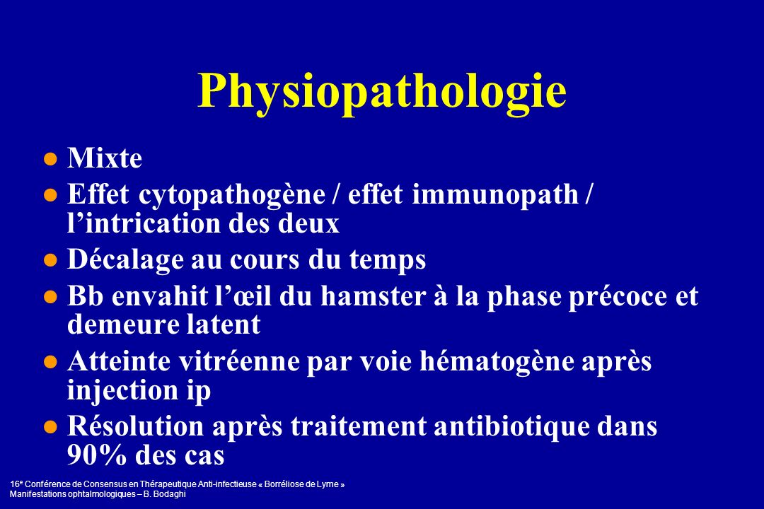 Physiopathologie ● Mixte