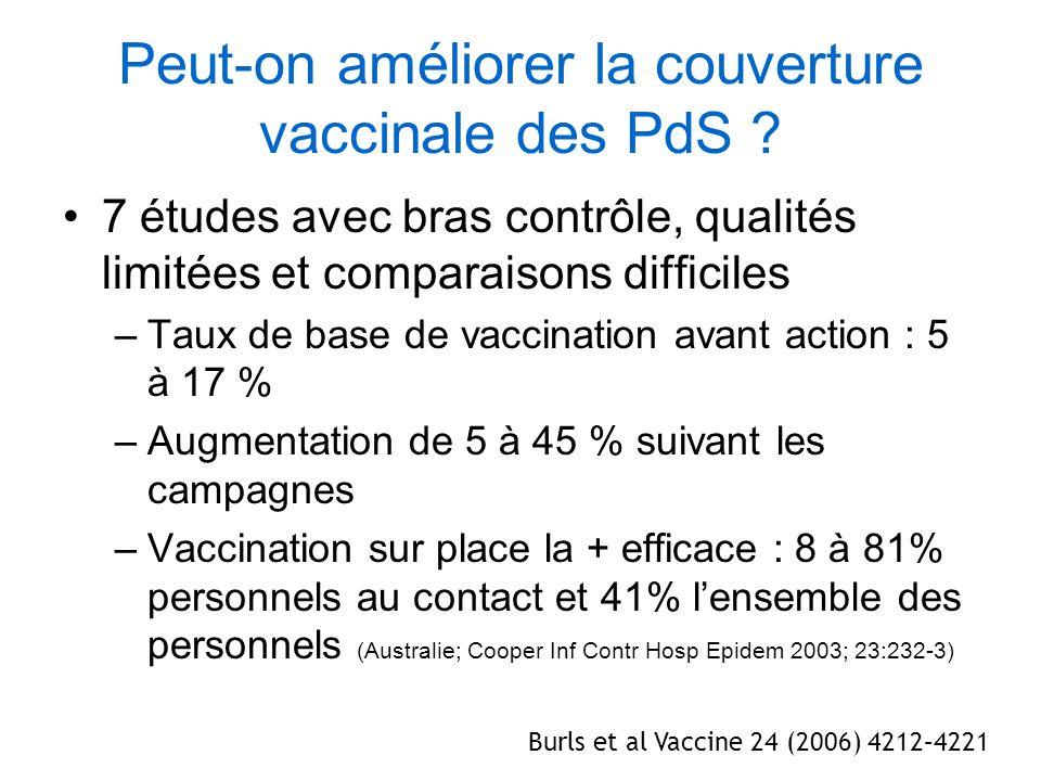 Peut-on améliorer la couverture vaccinale des PdS