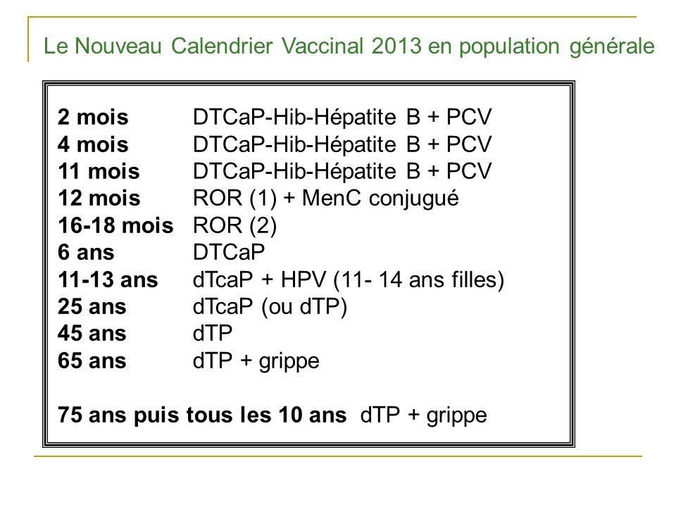 Le Nouveau Calendrier Vaccinal 2013 en population générale