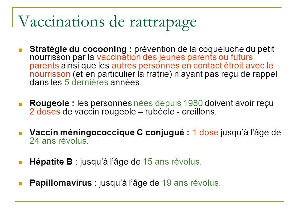 Vaccinations de rattrapage