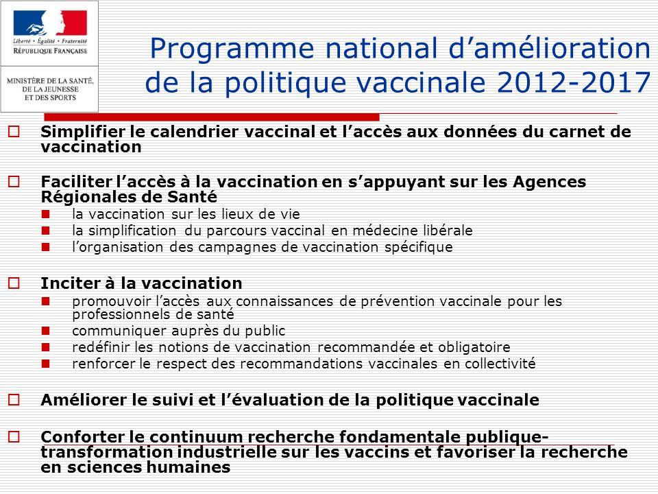 Programme national d'amélioration de la politique vaccinale 2012-2017