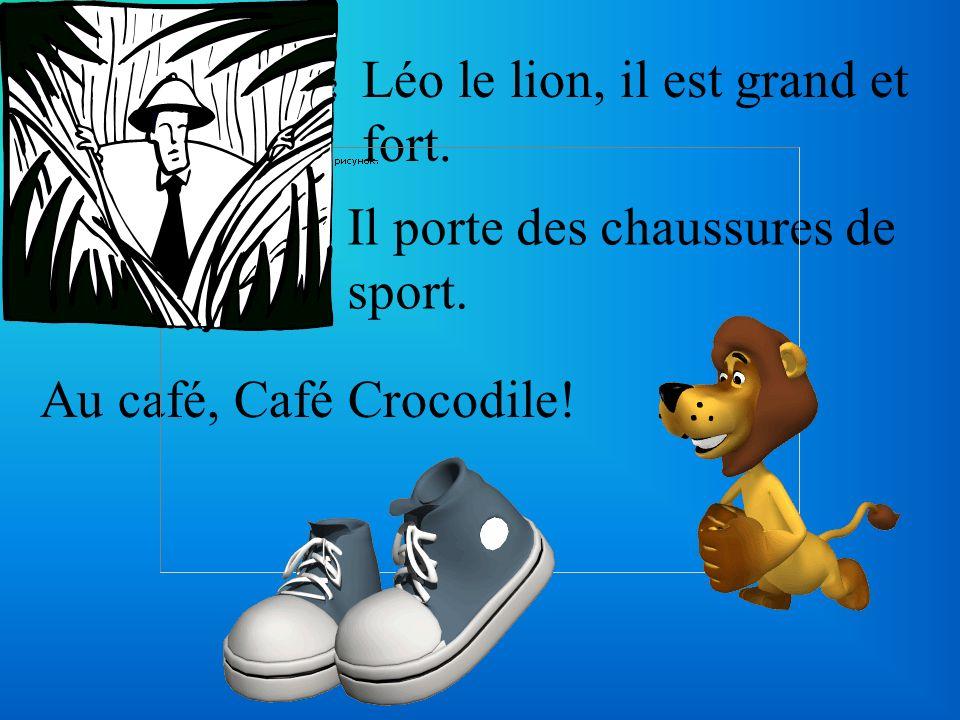 Léo le lion, il est grand et fort.