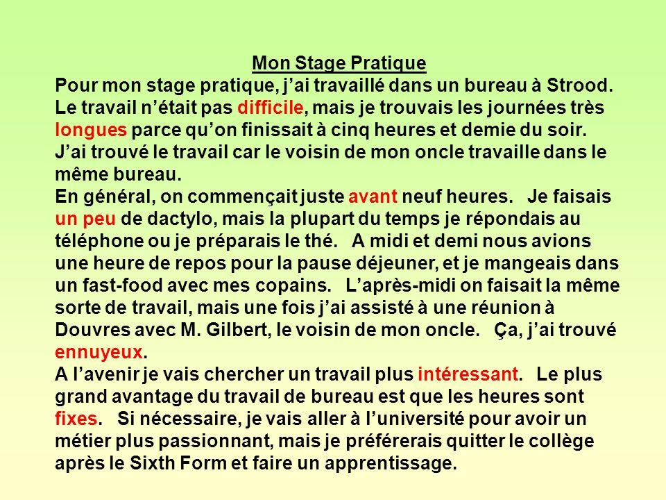 Mon Stage Pratique
