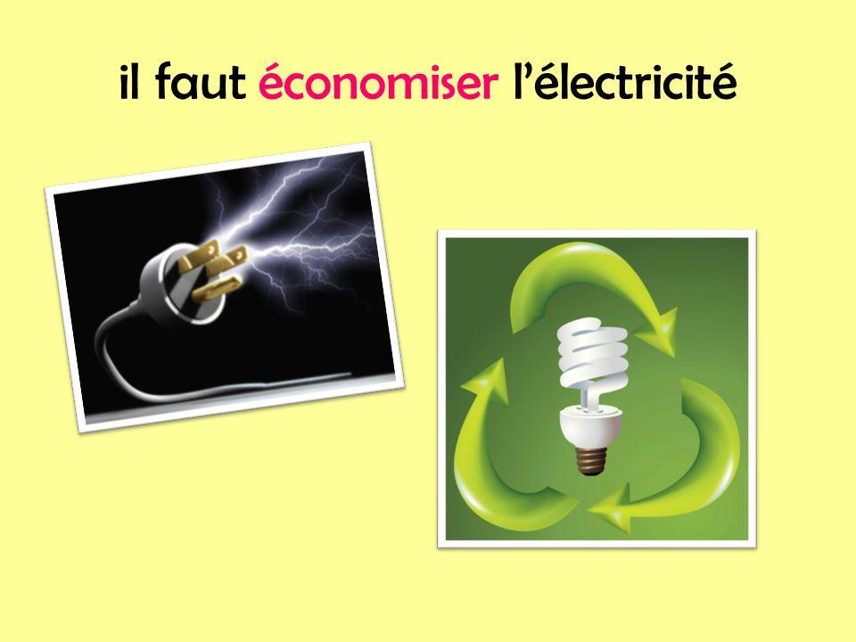 il faut économiser l'électricité