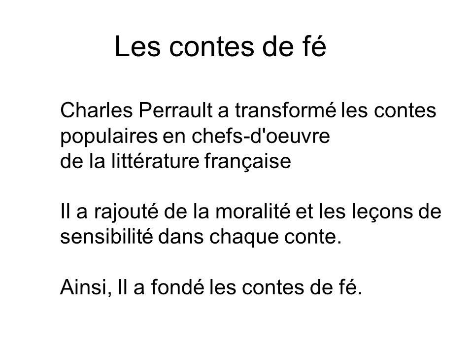 Les contes de fé de la littérature française
