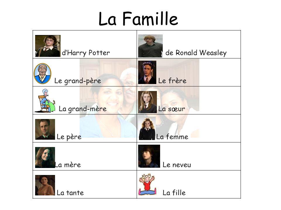 La Famille d'Harry Potter de Ronald Weasley Le grand-père Le frère