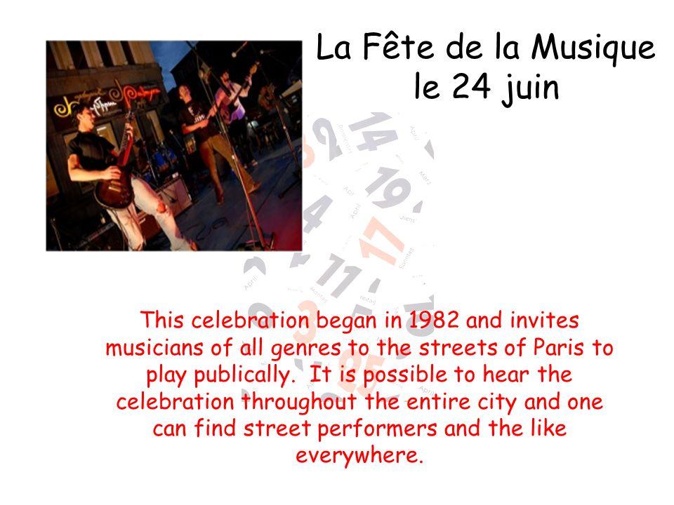 La Fête de la Musique le 24 juin