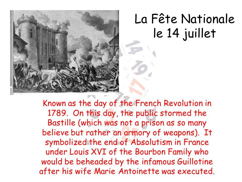La Fête Nationale le 14 juillet