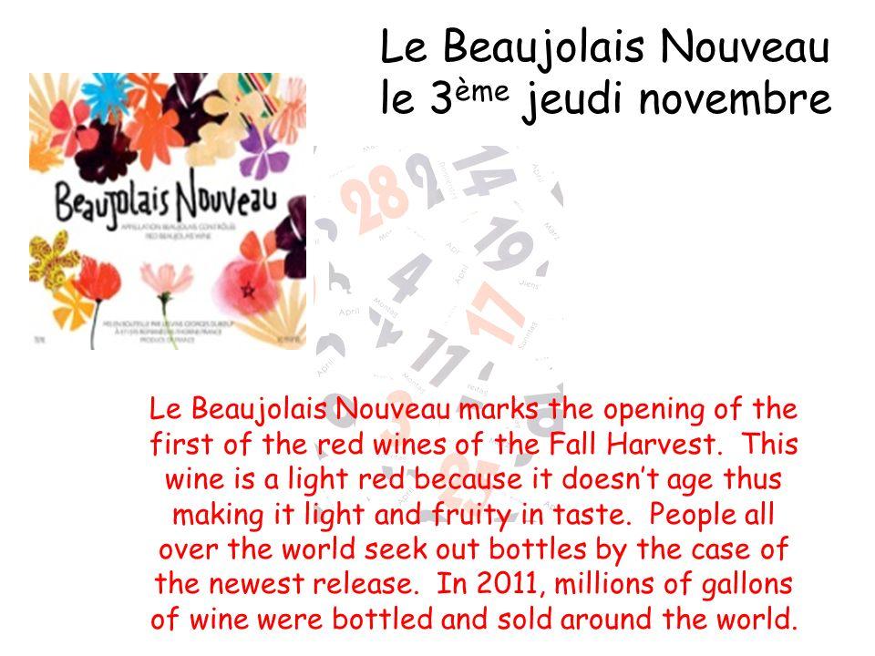Le Beaujolais Nouveau le 3ème jeudi novembre