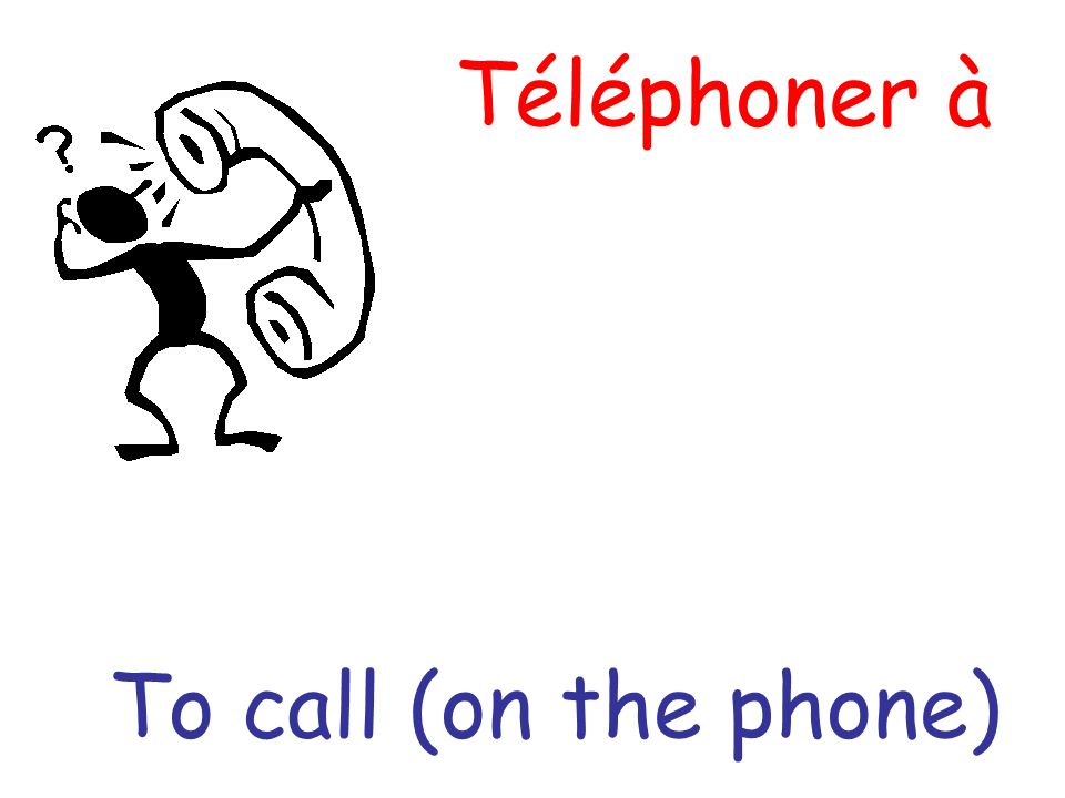 Téléphoner à To call (on the phone)
