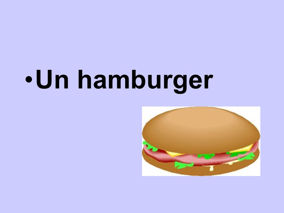 Un hamburger