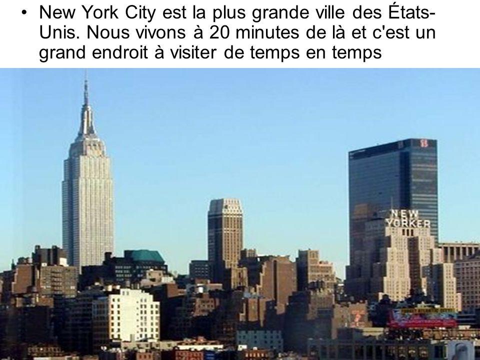 New York City est la plus grande ville des États-Unis
