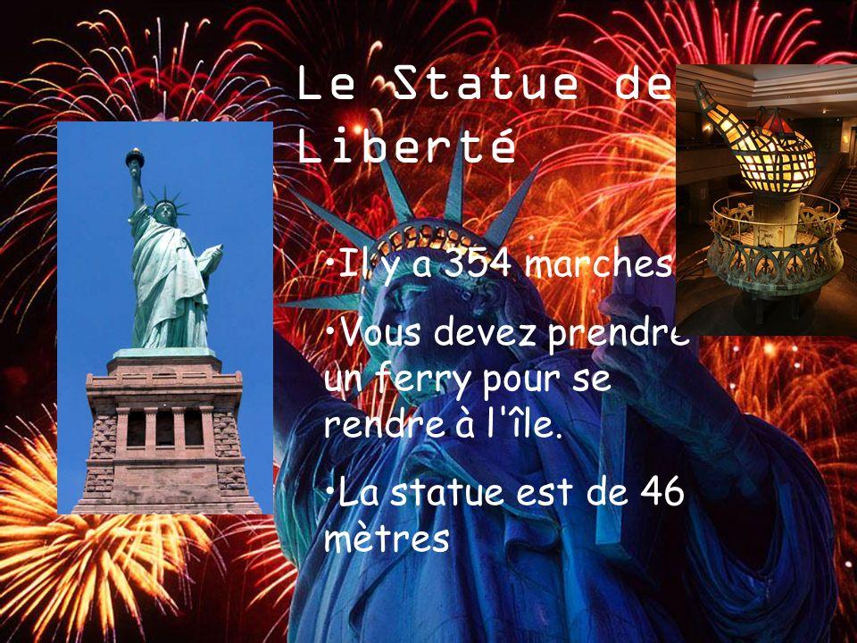 Le Statue de La Liberté Il y a 354 marches