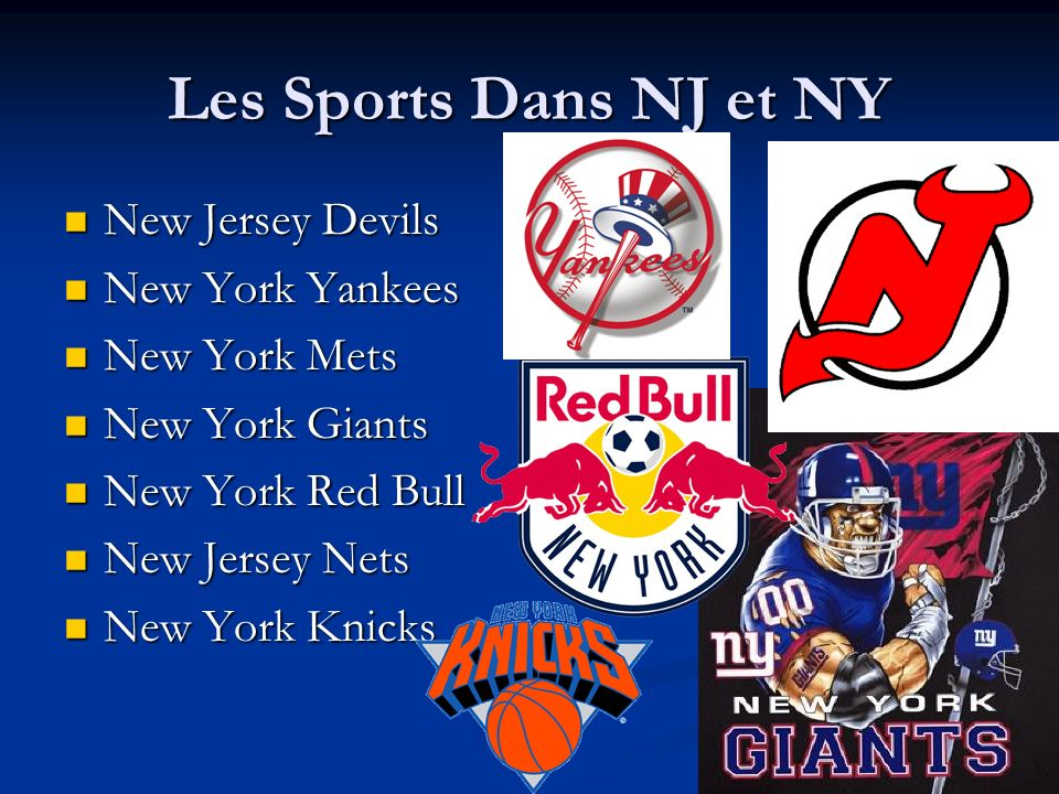 Les Sports Dans NJ et NY New Jersey Devils New York Yankees