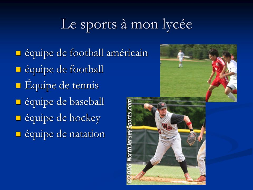 Le sports à mon lycée équipe de football américain équipe de football