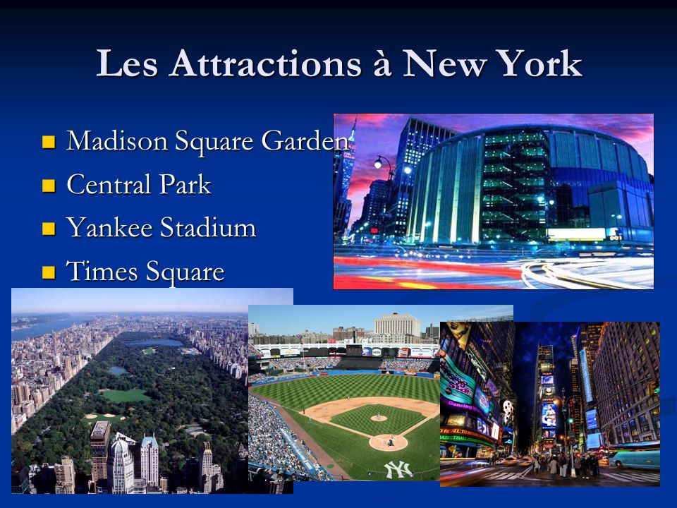 Les Attractions à New York