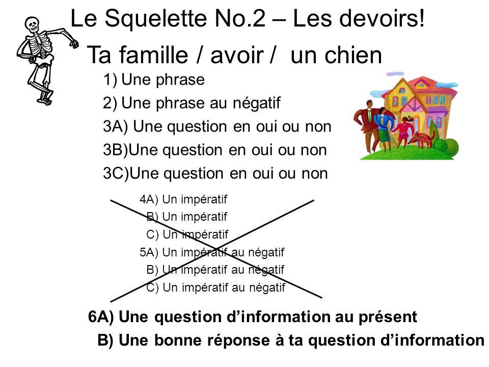 Le Squelette No.2 – Les devoirs!