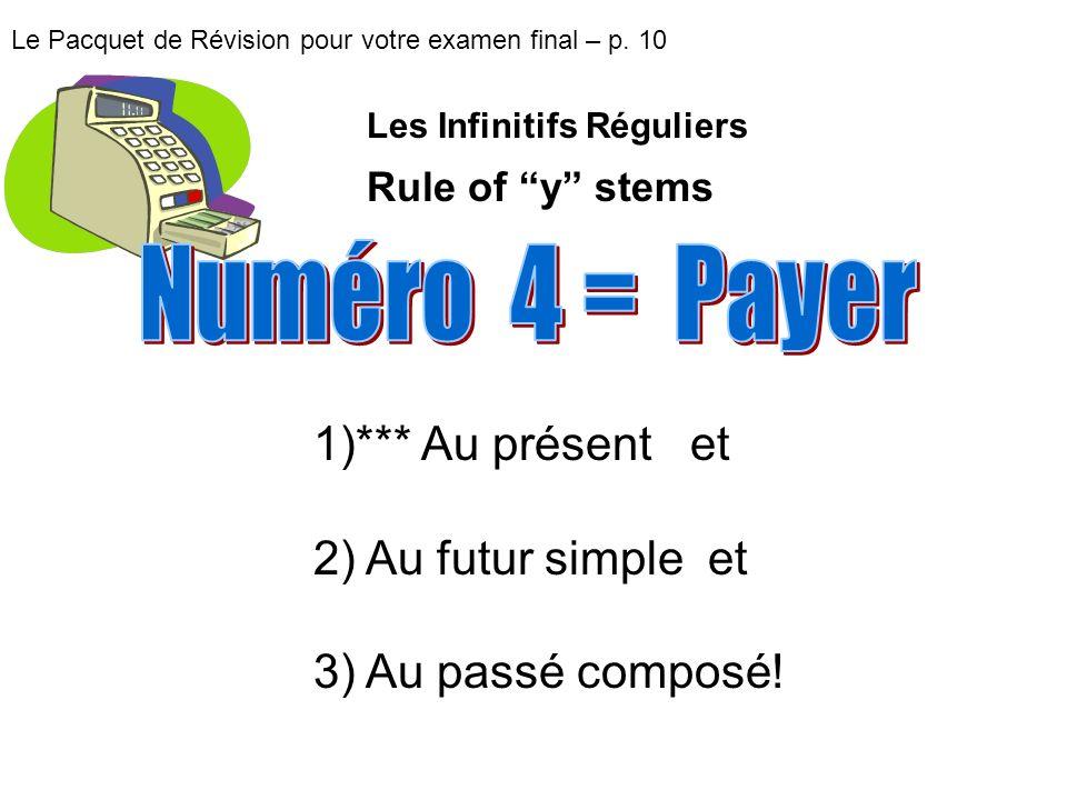 Numéro 4 = Payer *** Au présent et Au futur simple et