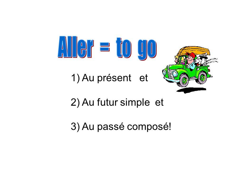 Aller = to go Au présent et Au futur simple et Au passé composé!