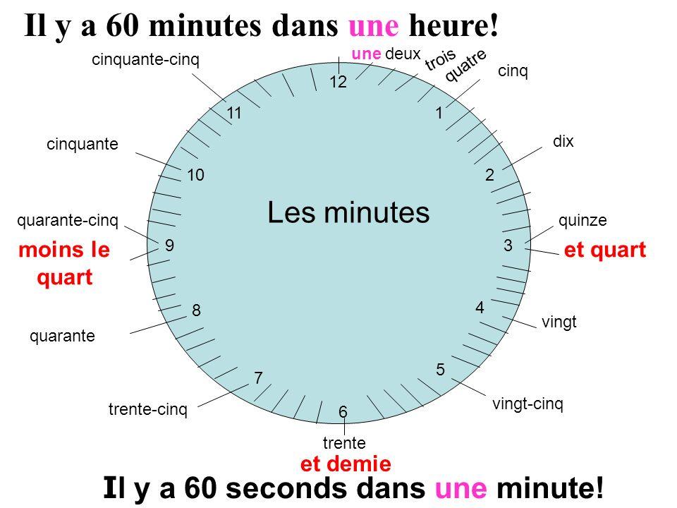 Il y a 60 minutes dans une heure!