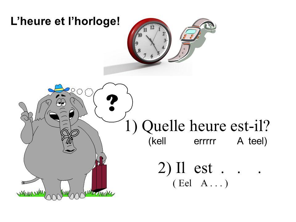 1) Quelle heure est-il 2) Il est . . . L'heure et l'horloge!